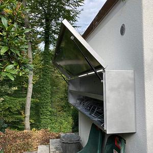 Witterungsschutz aus Aluminiumblech für Stewi