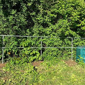 Neues Gartengeländer