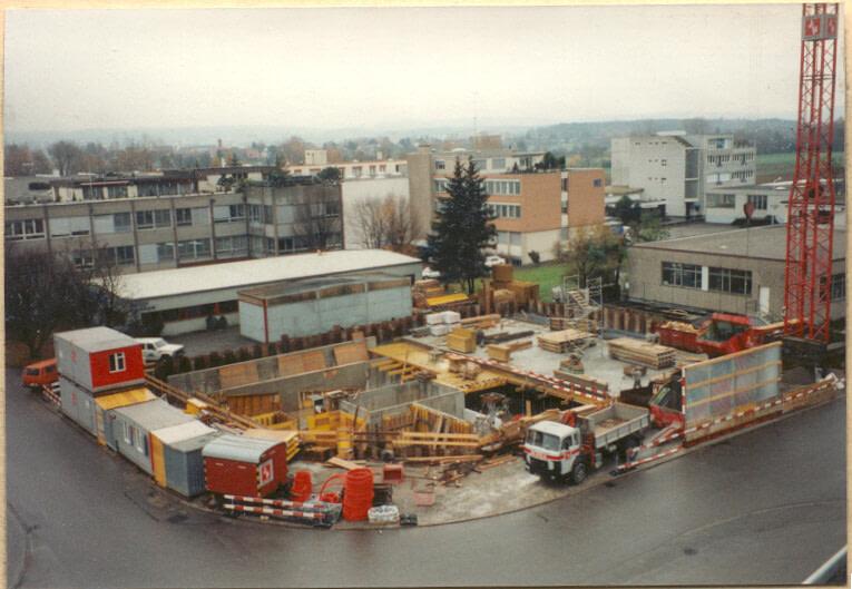 Mauern Untergeschoss 1994