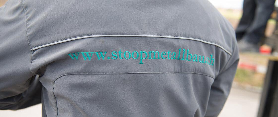 Stoop Metallbau Über uns Banner