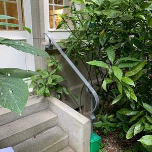 Mit neuem Treppengeländerhandlauf aus Radreifprofil