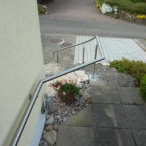Aussenhandlauf bei Treppe